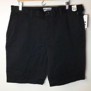 NWT Billabong Carter Stretch Shorts - Black - 38